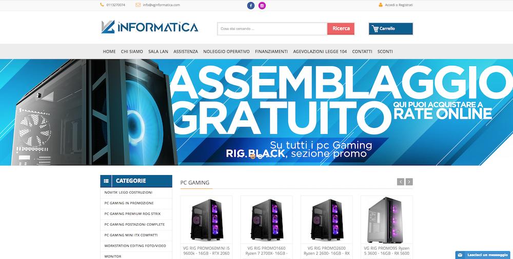 Sito eCommerce Torino - VG Informatica