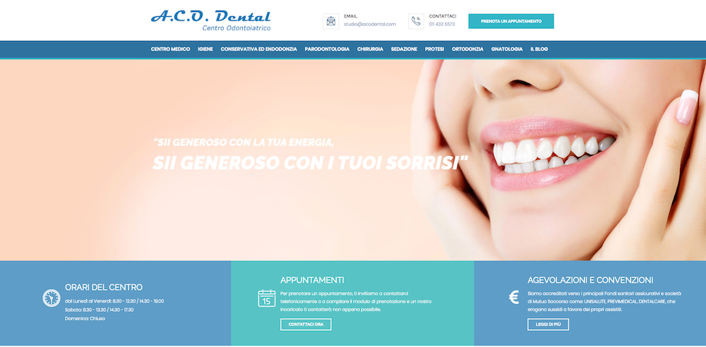 Siti Internet Torino - ACO Dental