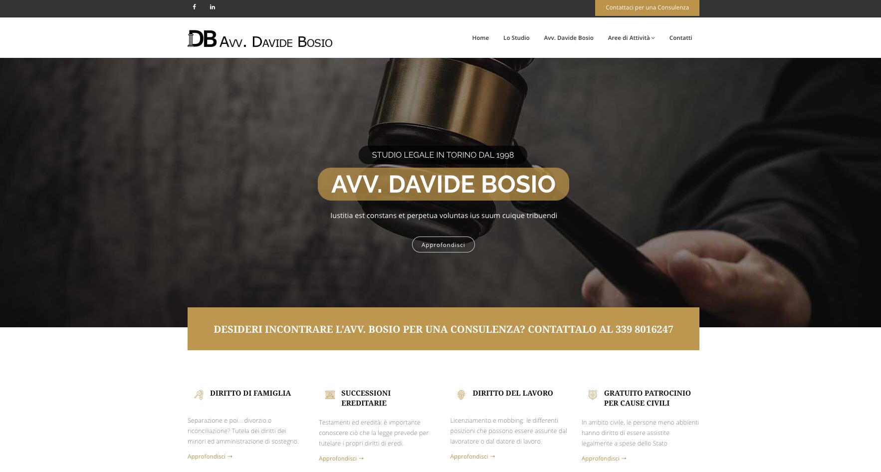 Sito Web Torino - Avvocato Davide Bosio