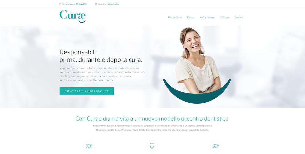 Sito Web Torino - Centro Dentistico Curae