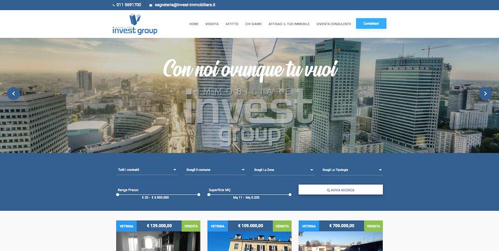 Siti Web Torino - Invest Immobiliare