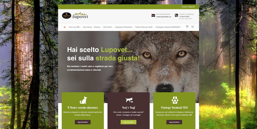 Sito eCommerce Torino - Lupovet Italia