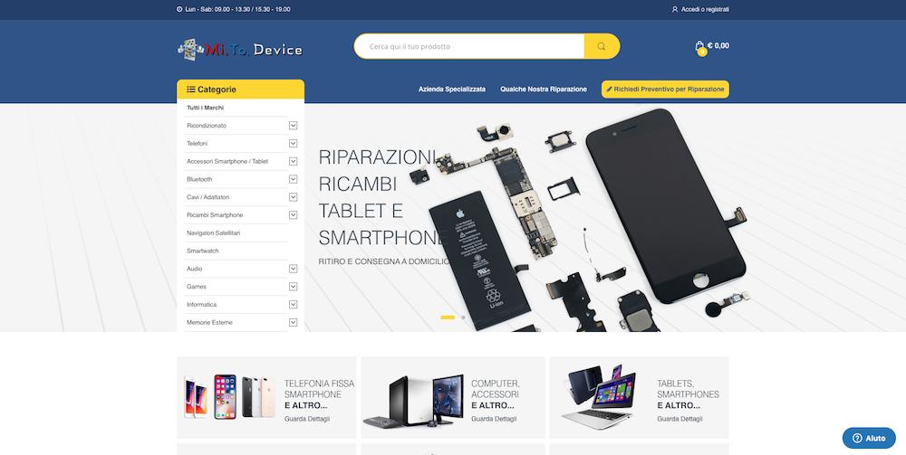 Siti eCommerce Torino - Mi. To. Device
