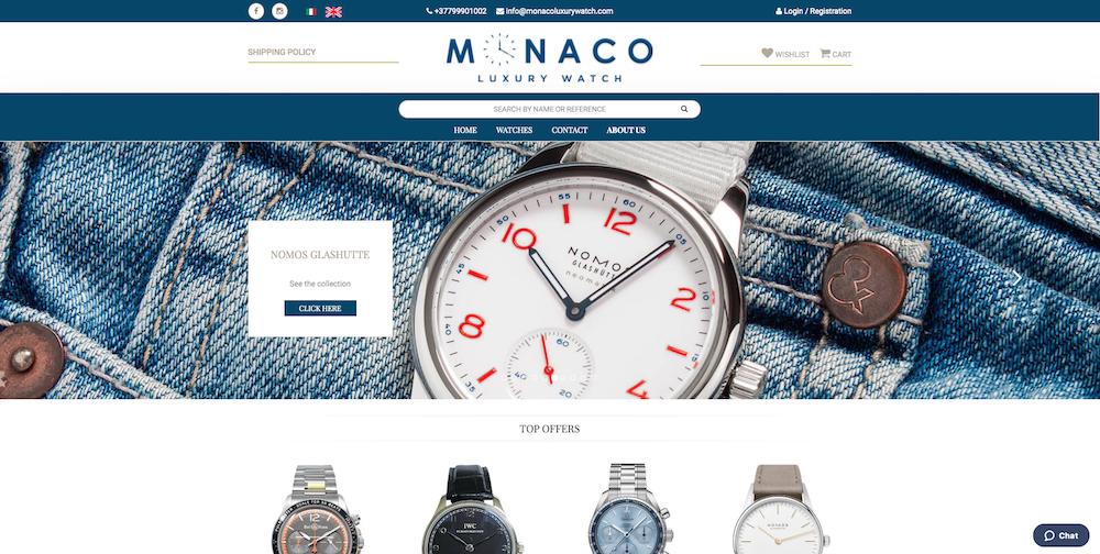 Sito eCommerce Torino - Monaco Luxury Watch