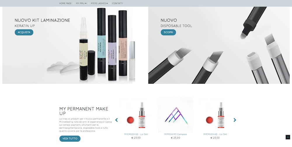Sito eCommerce Torino - My Beauty Academy