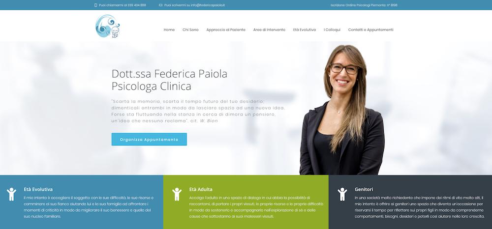 Sito Web Torino - Psicologa Federica Paiola