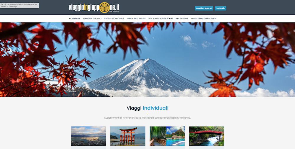 Sito eCommerce Torino - Viaggio in Giappone