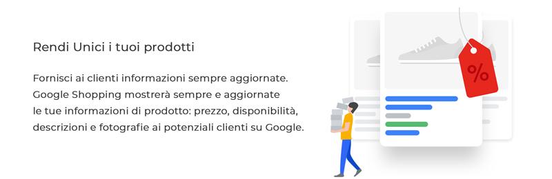Prodotti sempre aggiornati su Google Shopping