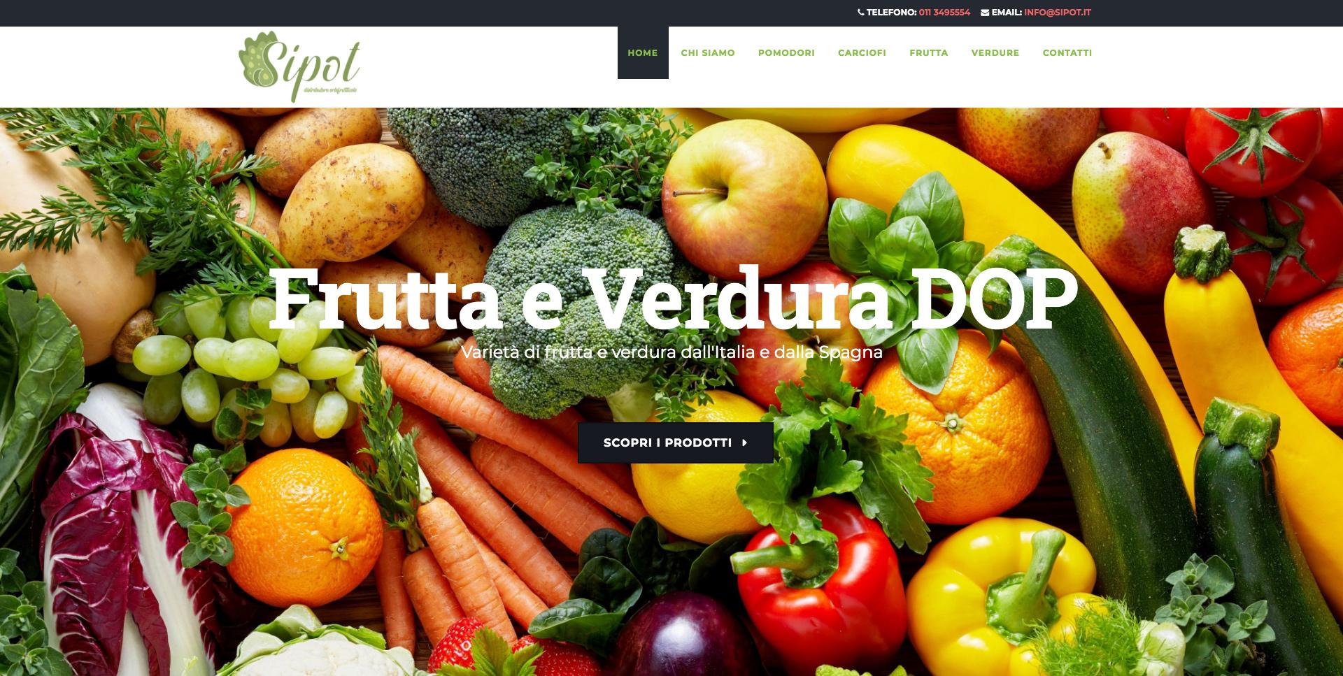 Sito Web Azienda Ortofrutticola Torino