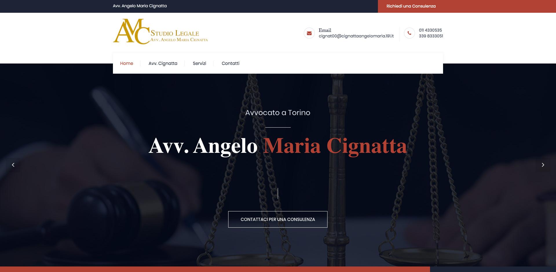 Sito Web per Consulenza Legale a Torino
