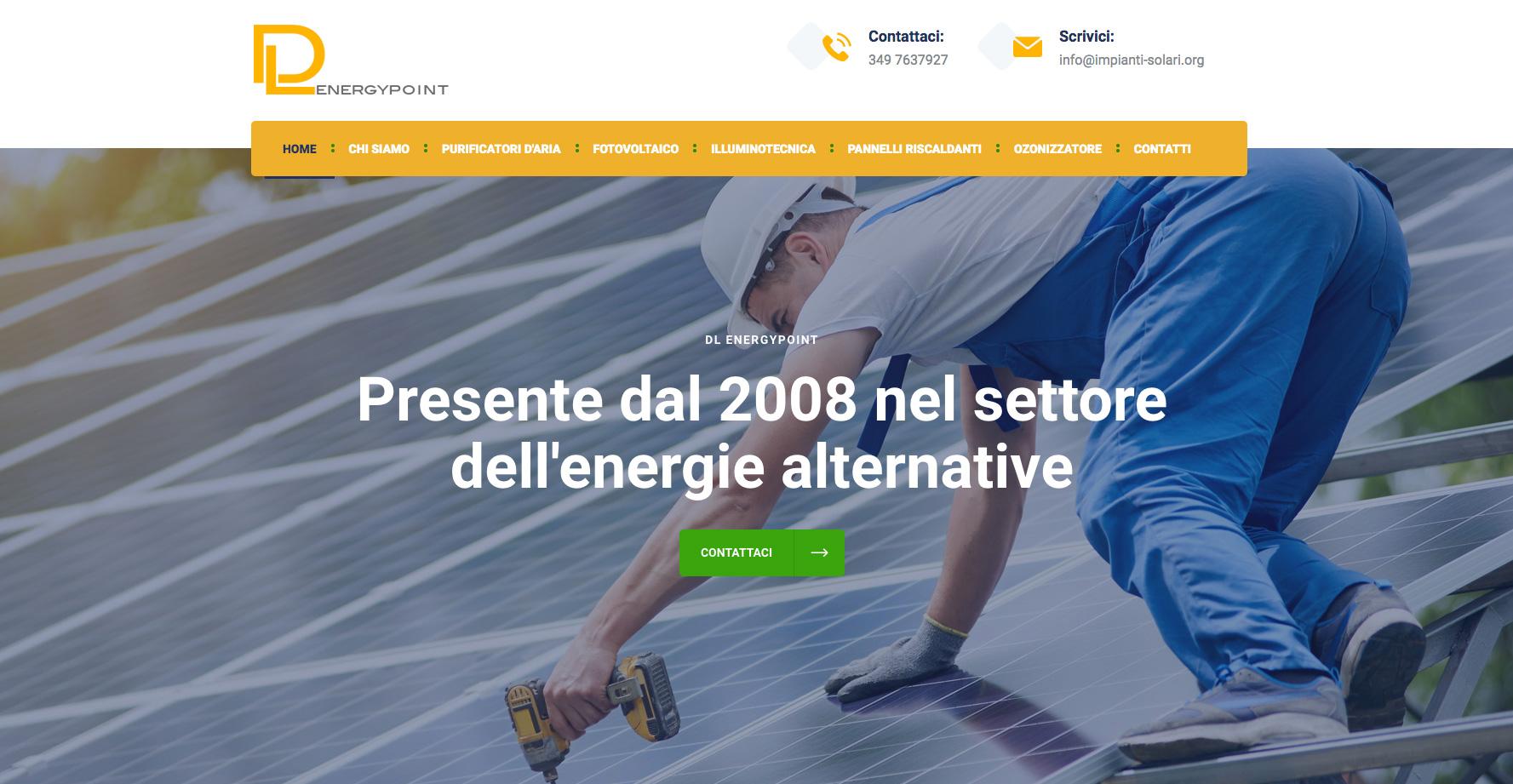 Creazione Sito Web per Azienda di Impianti Solari Torino