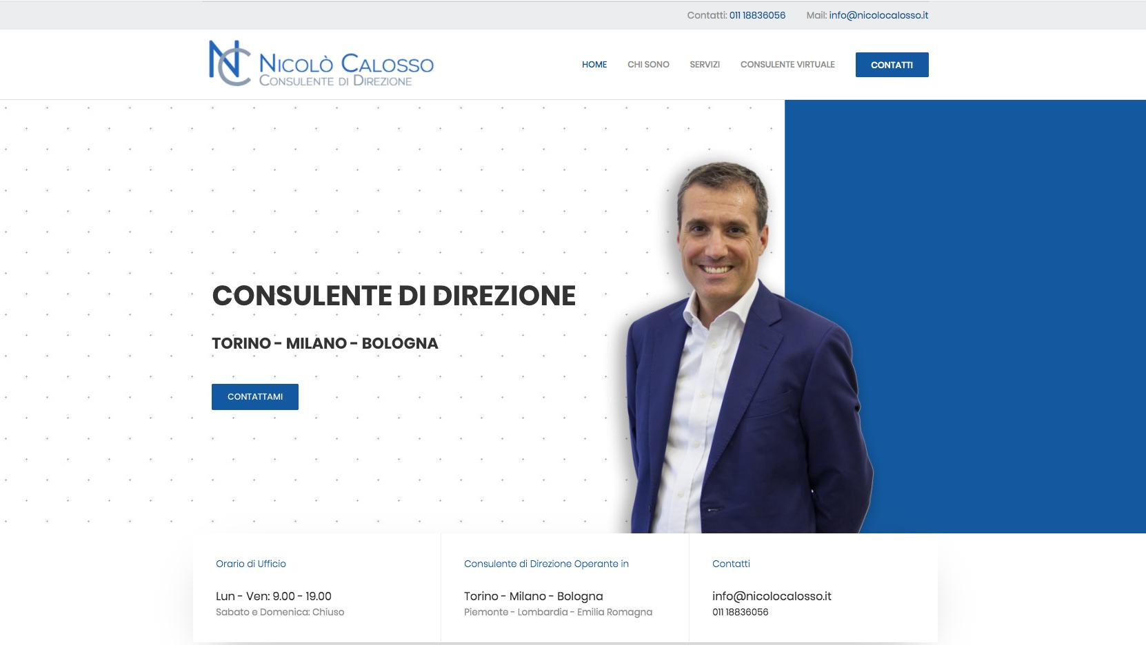Siti Web per Consulente di Direzione a Torino