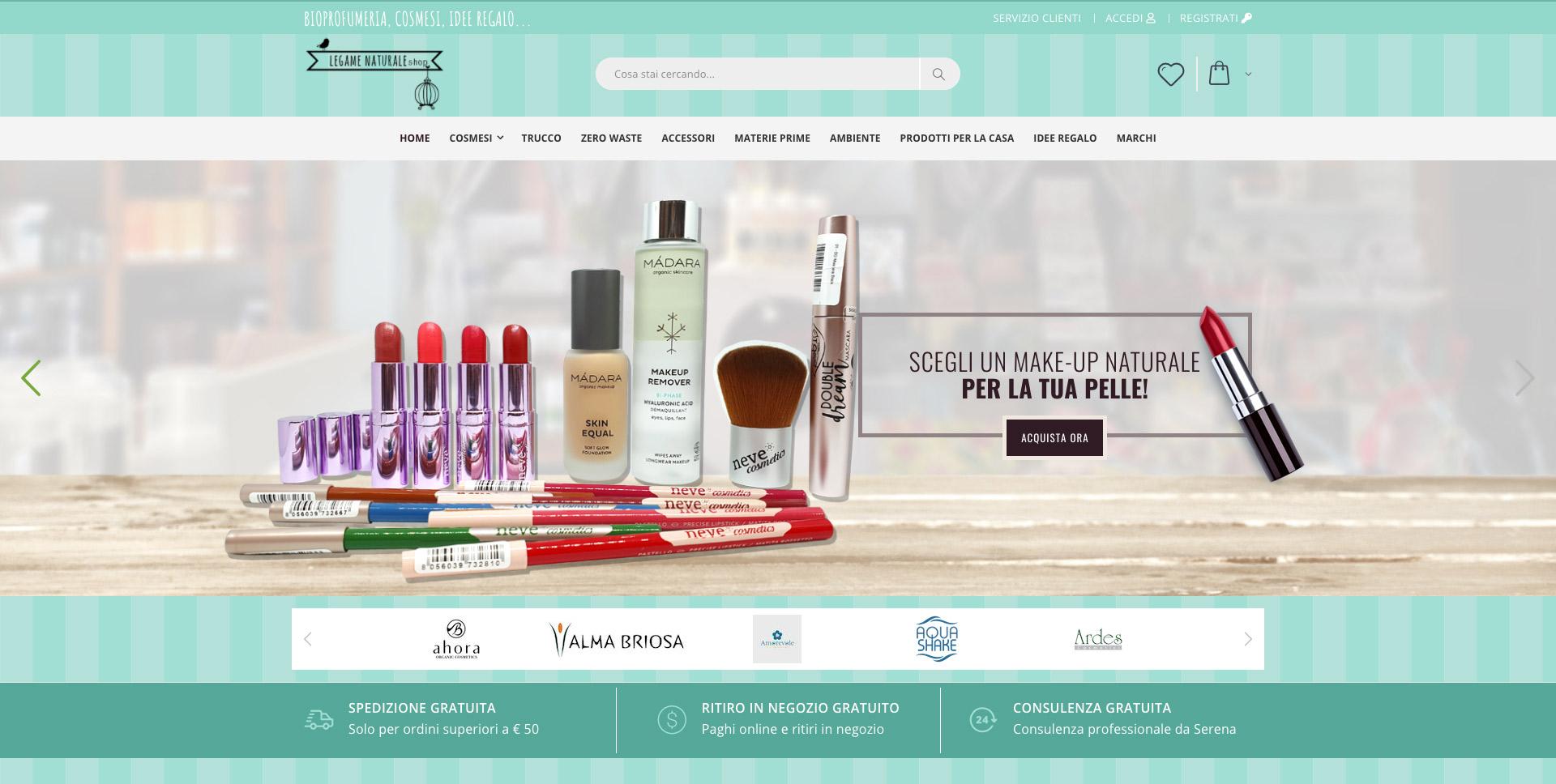 eCommerce Torino Vendita Prodotti Cosmetici Naturali