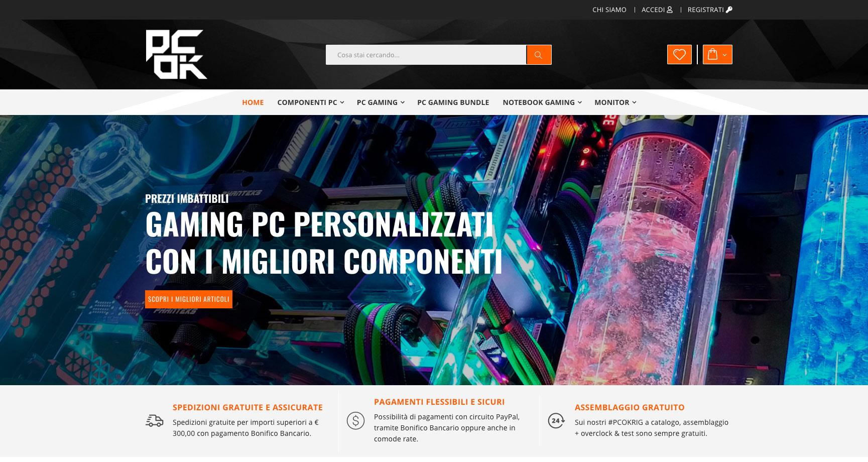 Siti eCommerce Gaming PC Torino