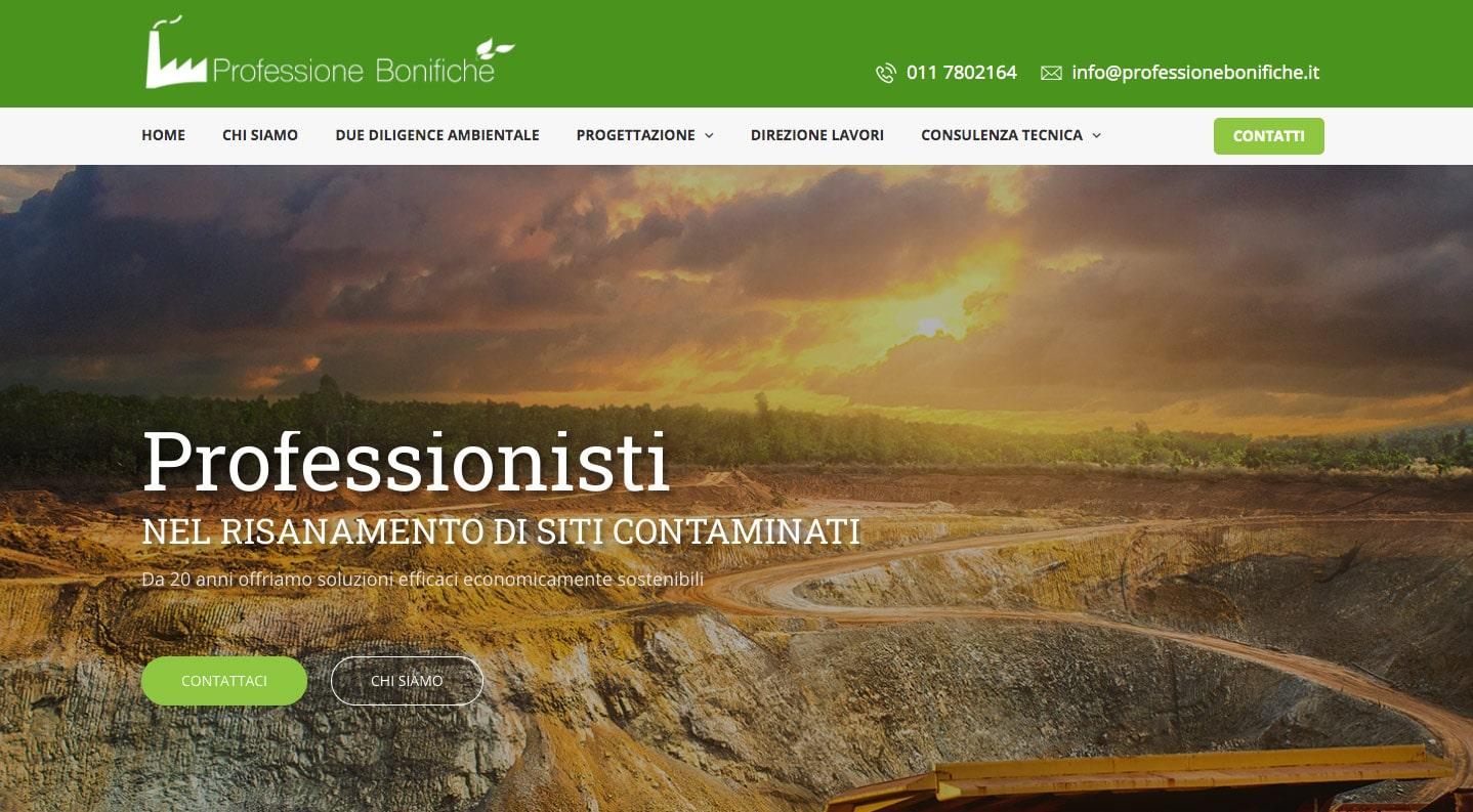 Creazione Siti Web Torino Professione Bonifiche