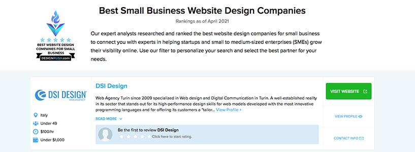 DSI Design on Design Rush