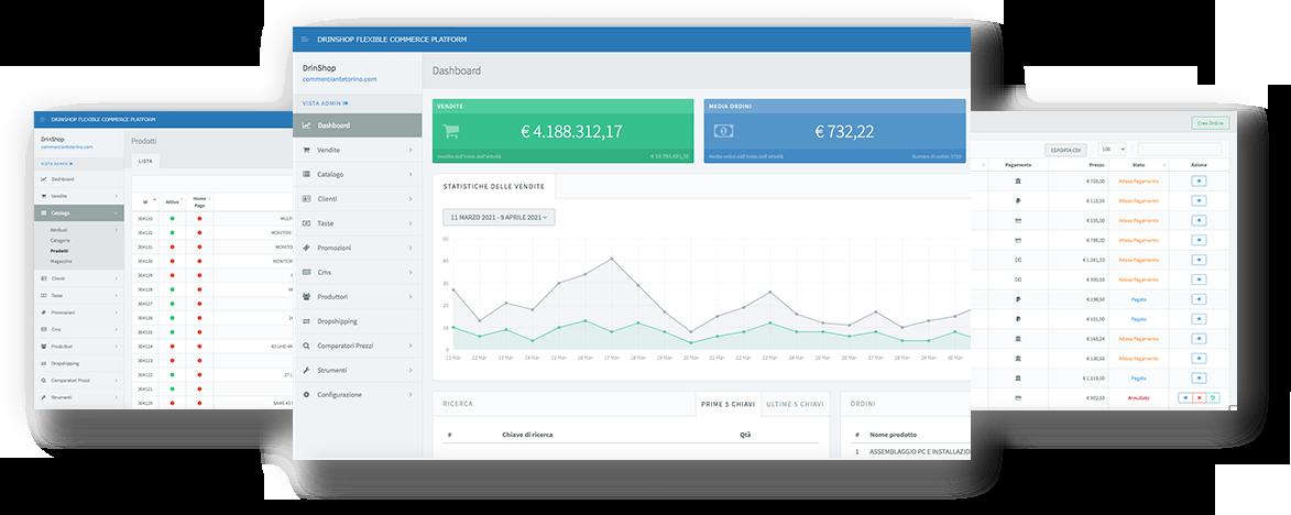 drinShop - Piattaforma eCommerce a Milano