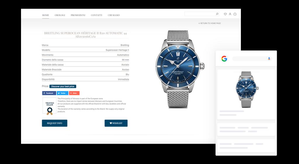 eCommerce di Orologi di Lusso sviluppato da DSI Design