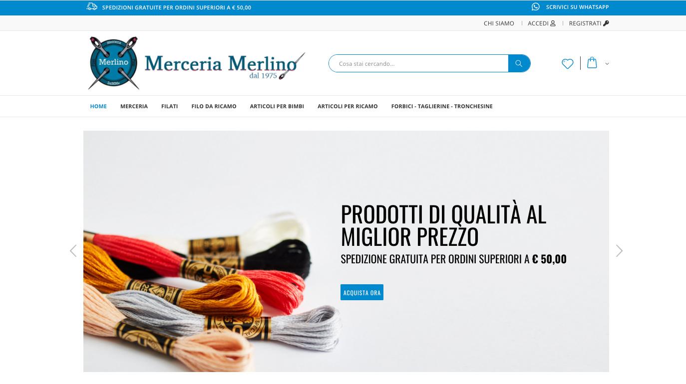 eCommerce per Merceria a Torino